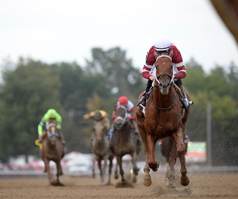 Gun Runner cruises to victory in the 2017 Woodward S. (G1) at Saratoga - NYRA photo
